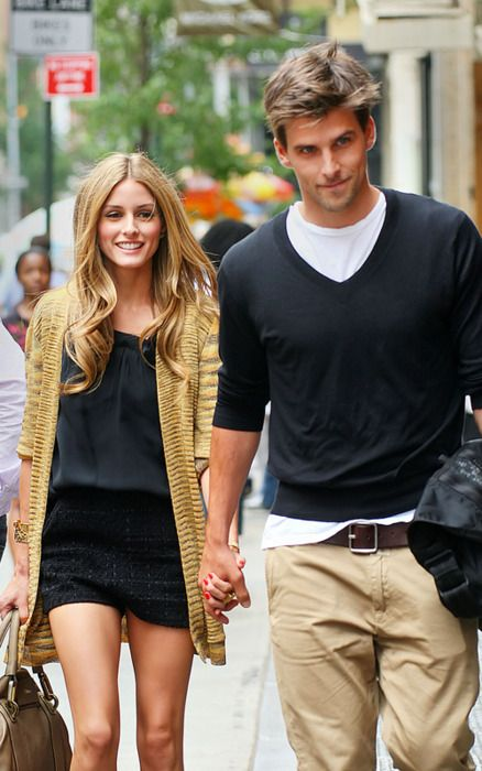 olivia and her gorgeous boyfriend. Both, dressed to the nines.