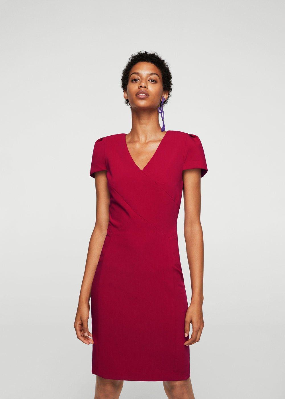 Robe cintrée coutures - Femme | MANGO France