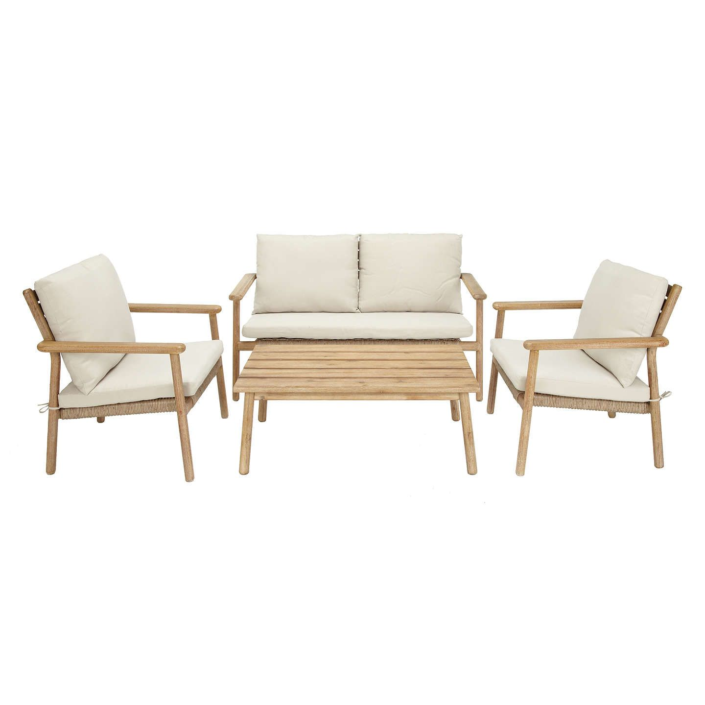 Oasis 4 Seater Garden Lounging Table And Chairs Set: Croft Collection Islay 4 Seater Garden Lounging Set