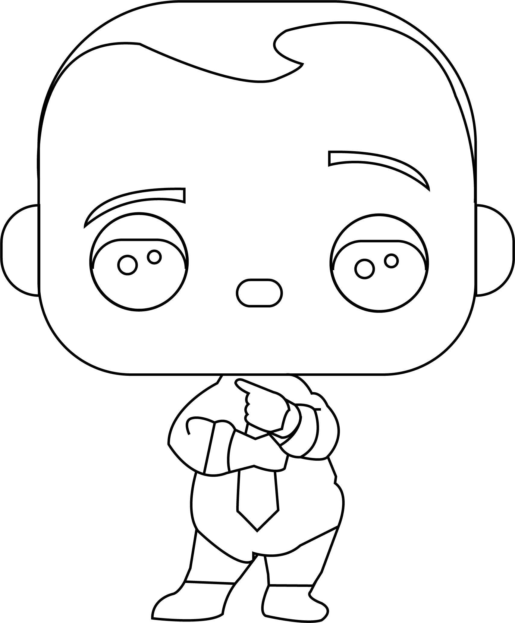 Nice Funko Pop Boss Baby Boss Baby Diaper And Tie Coloring Page