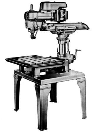 Delta Ram Type Radial Arm Drill Press Operating Parts Manual Old
