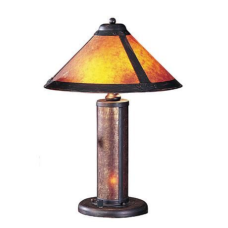 Mica Mission Accent Table Lamp With Night Light 82464 Lamps Plus Table Lamp Cal Lighting Table Lamp Shades