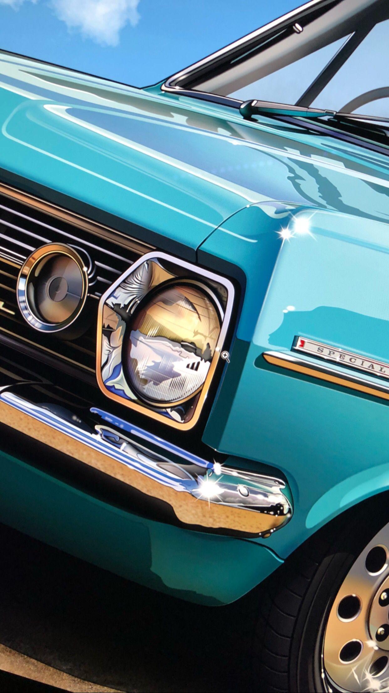 1966 Holden Hr Artwork Automotive Art Car Prints Car Painting