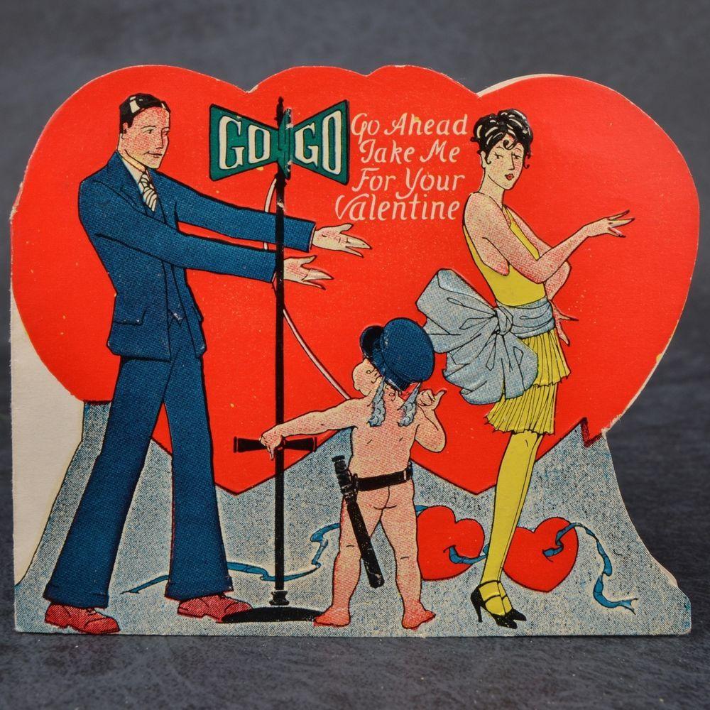 Vintage flapper girl man nude cherub traffic cop heart valentine vintage flapper girl man nude cherub traffic cop heart valentine card art deco kristyandbryce Images