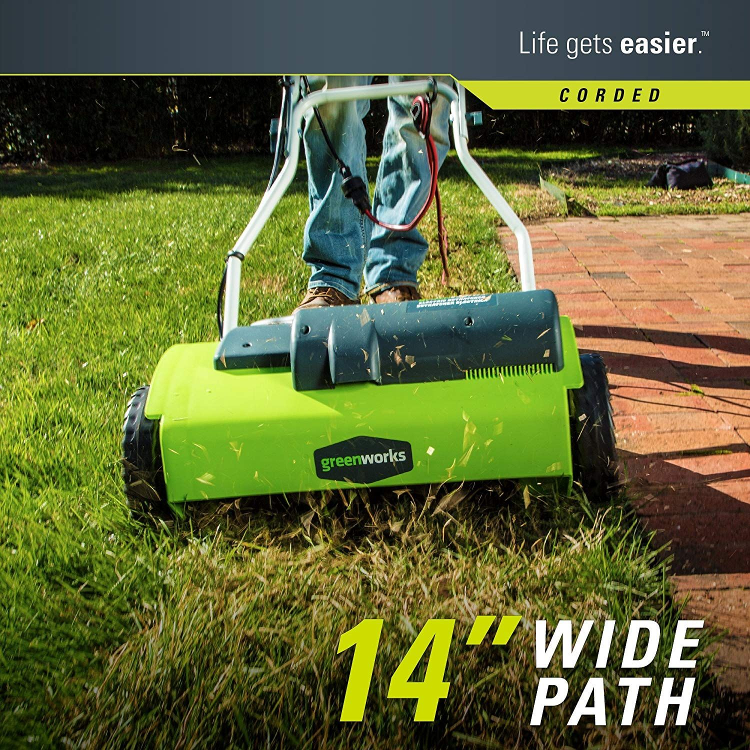 Greenworks Dethatcher 272022 14 Corded 10 Amp Best Lawn Mower Lawn Mower Tractor Landscaping Tools