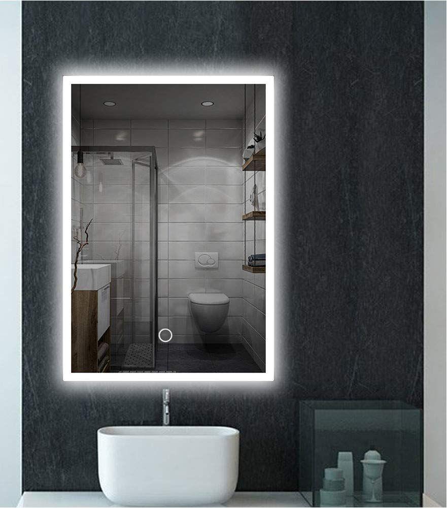 feelglad 32 x 24 inch led lighted bathroom mirror wall
