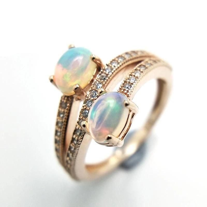 Handmade Sterling Silver Rings Multi Colored Sapphire Rings Boho Style Designer Rings Antique Opal Rings Ethiopian Opal Ring