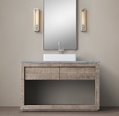 Reclaimed russian oak vessel washstand bath collection for Recycled bathroom sinks