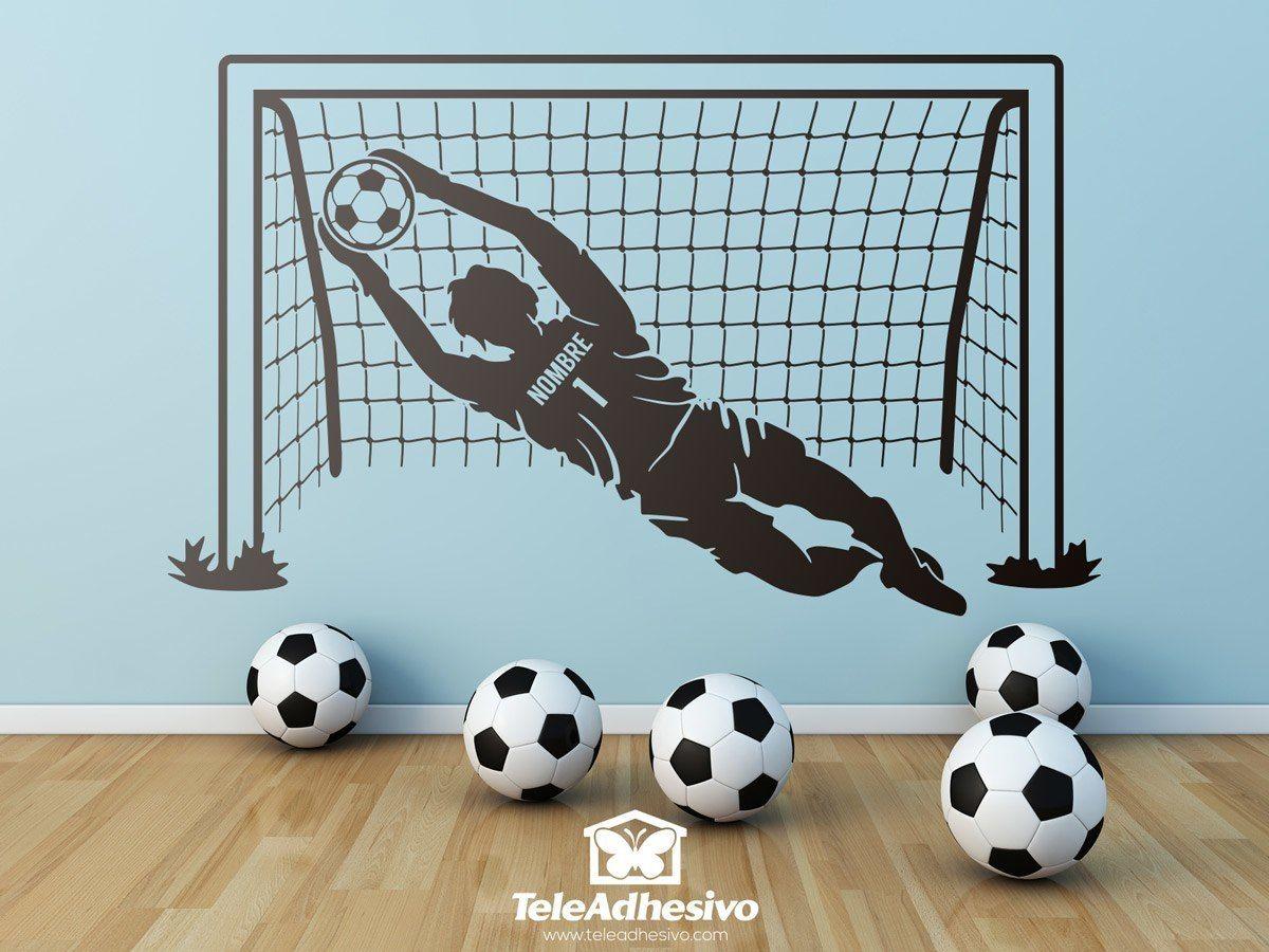 Portero y porter a de f tbol dormitorios porter as de for Decoracion de cuartos de ninos de futbol