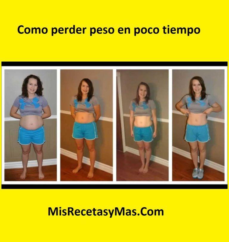 Perder kilos en poco tiempo