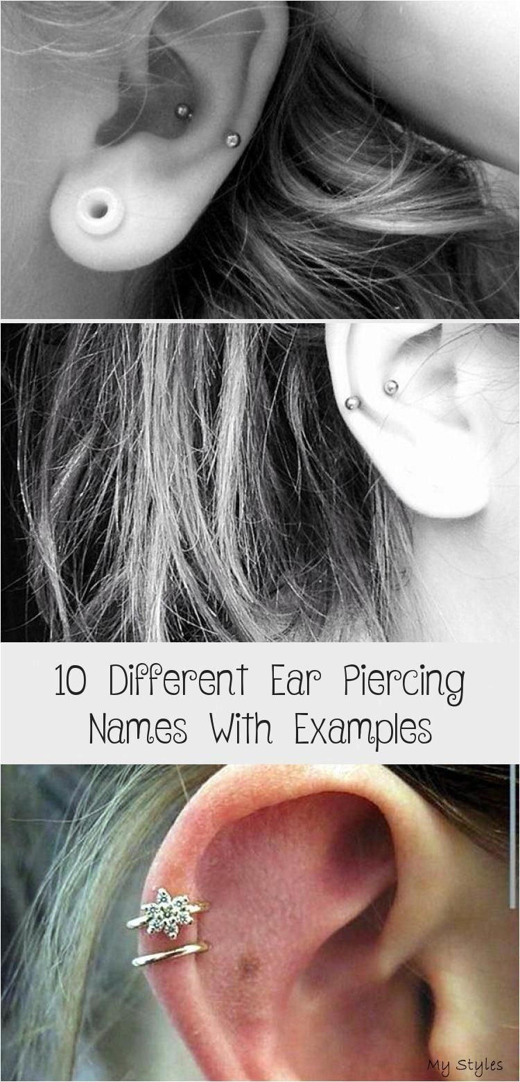 10 different ear piercing names with examples , #Beverly Dietrich #Bodymodification #Bodyp- #piercing #chart #nose