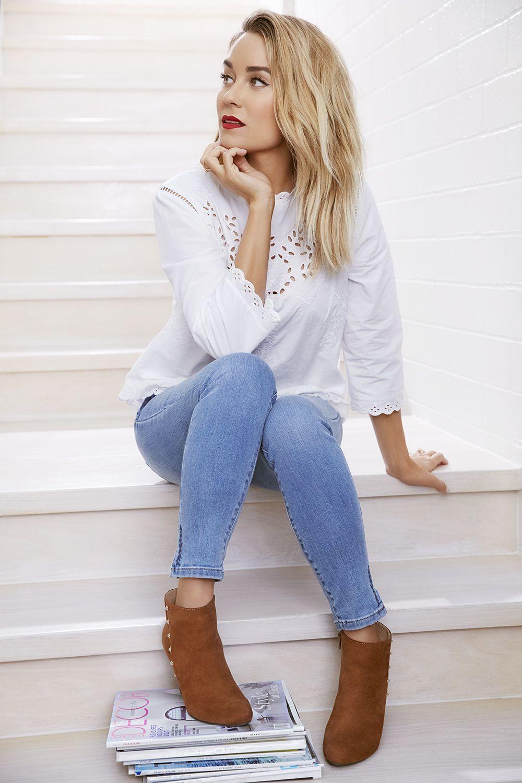 Women's LC Lauren Conrad Embroidered Poplin Top in 2020