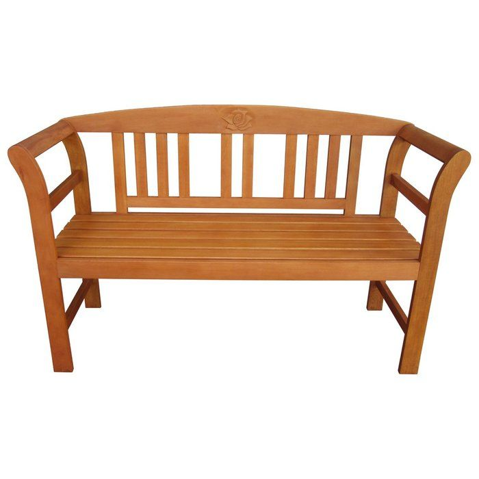 Garden bench made of solid wood | Garden bench, Bench ...