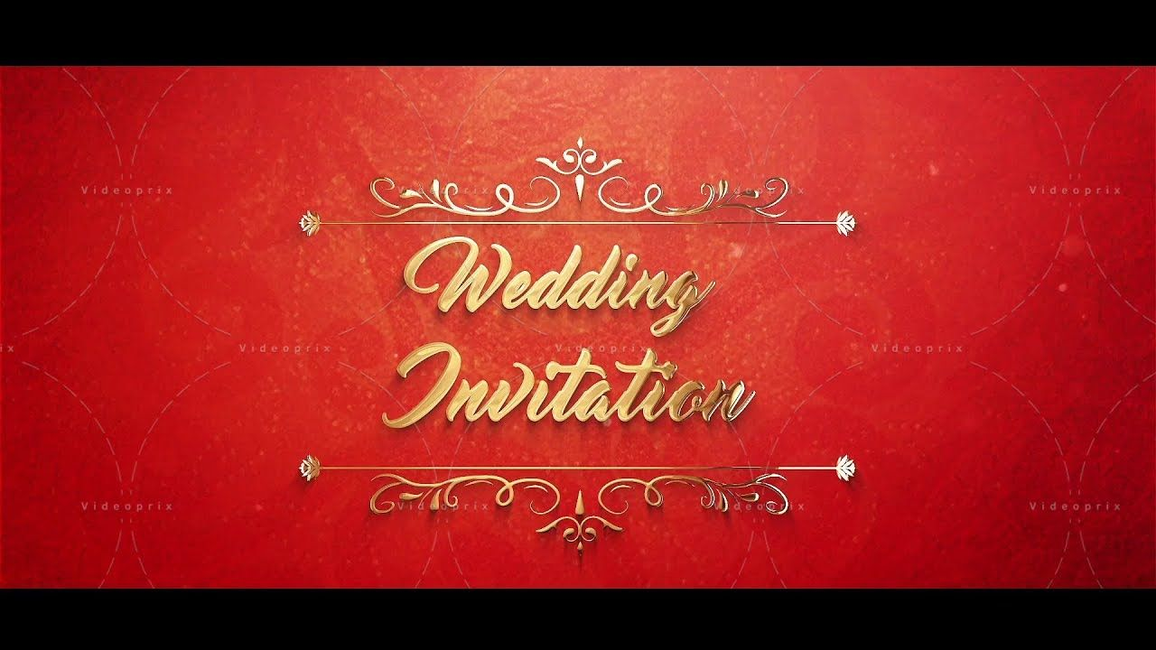Make A Gorgeous And Professional Looking Wedding Invitation Video With This Wedding Invitation Video Indian Wedding Invitations Engagement Invitation Template