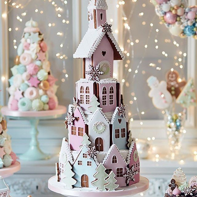 We are absolutely thrilled to see our beautiful Gingerbread Winter Village has made it on the Christmas hamper list as 'the wildcard' by @ft_howtospendit ! Thank you x #gingerbreadhouse /peggyporschen/