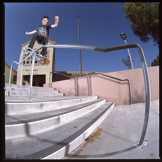 Frontside Smith Grind from Ethan Loy; shot by @oliver #etnies