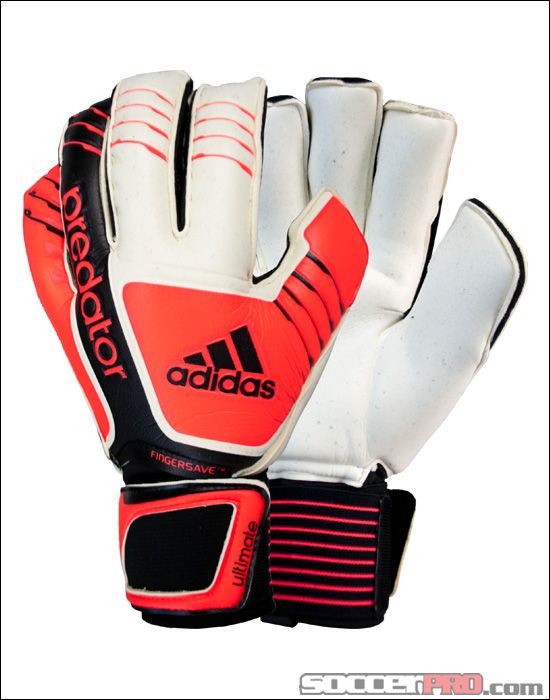 Adidas Predator Fingersave Ultimate Goalkeeper Glove White With Black 130 48 Goalkeeper Gloves Goalie Gloves Goalkeeper