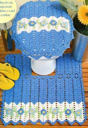 Crochê Tricô - Gráficos: Jogo de Banheiro