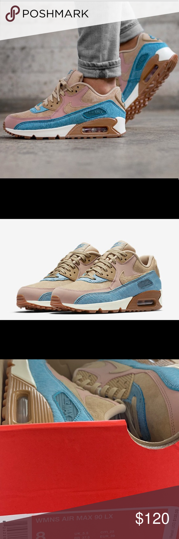 Women's Nike Air Max 90 LX 898512 200 SZ 6 New with original