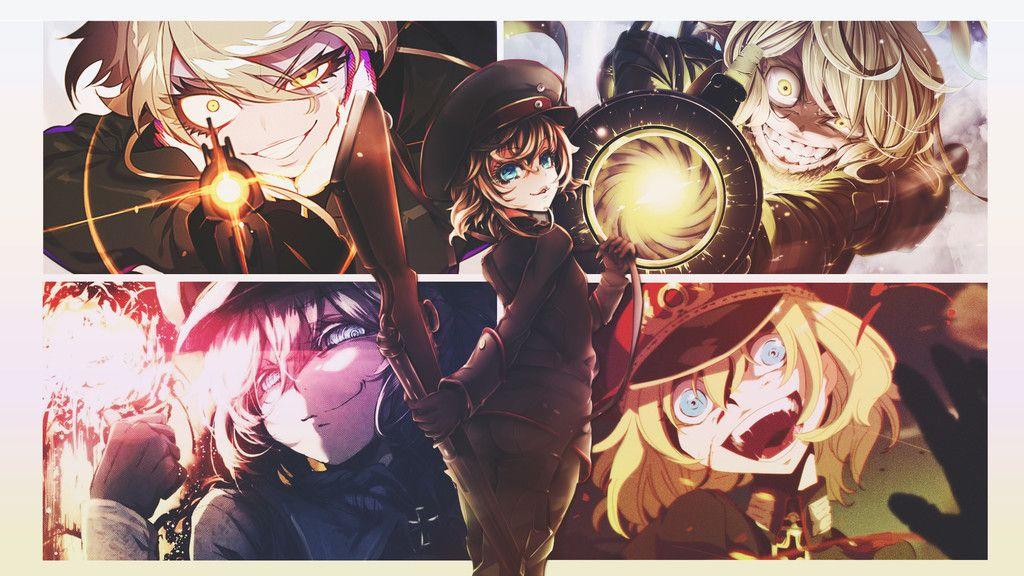 Tanya Degurechaffs Various Mood Anime Wallpaper