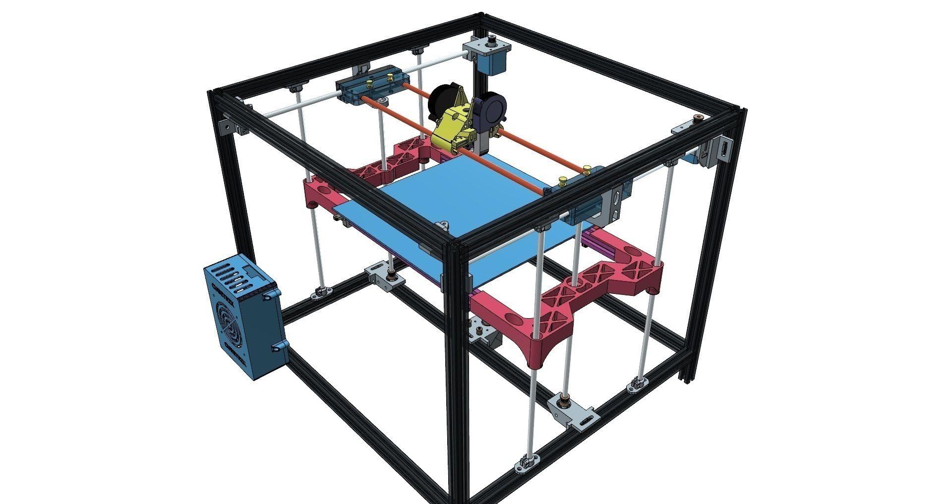 3D Printed CUBETRIX diy corexy 3D PRINTER by ion_gurguta