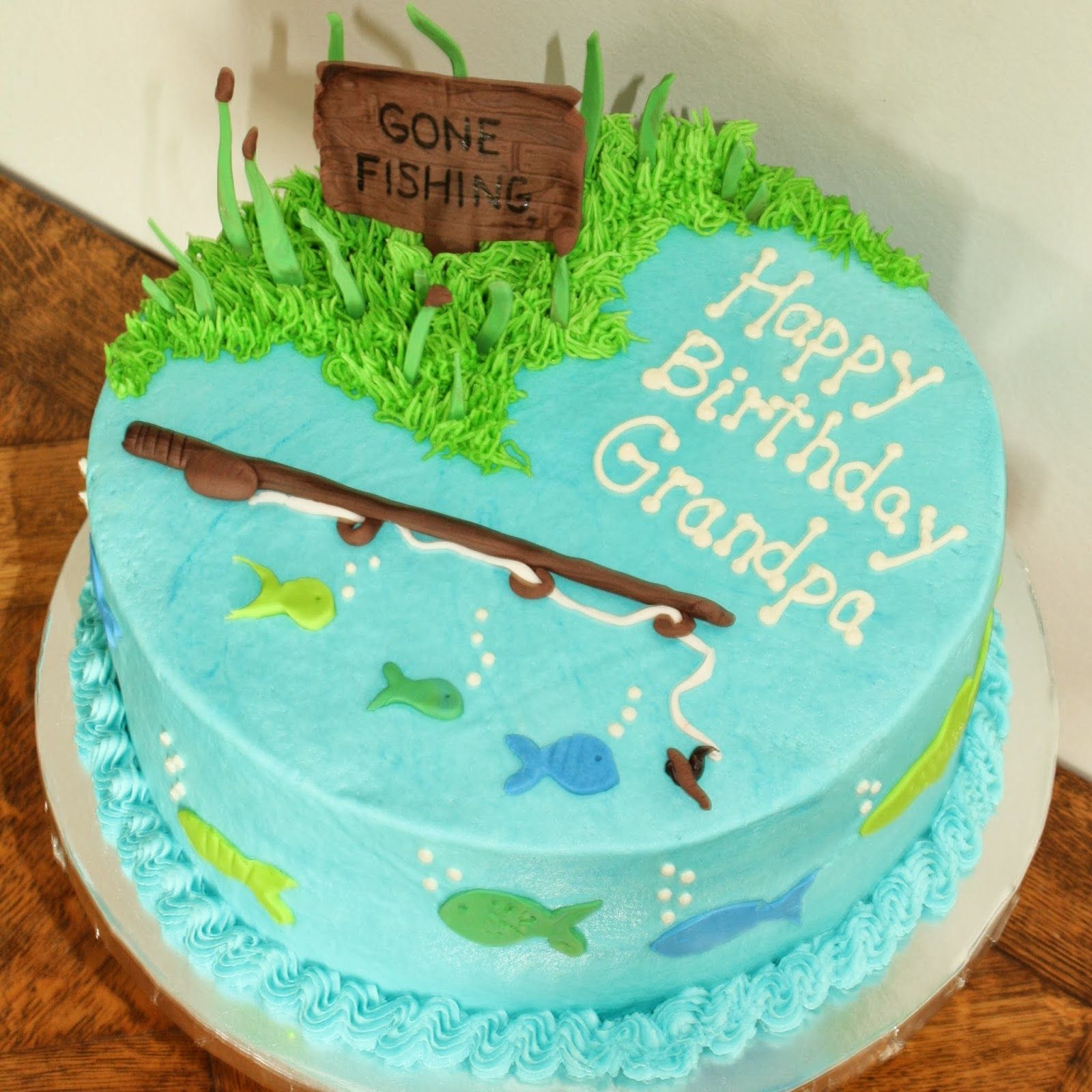 Gone Fishing Cake With Images Fish Cake Birthday Gone Fishing