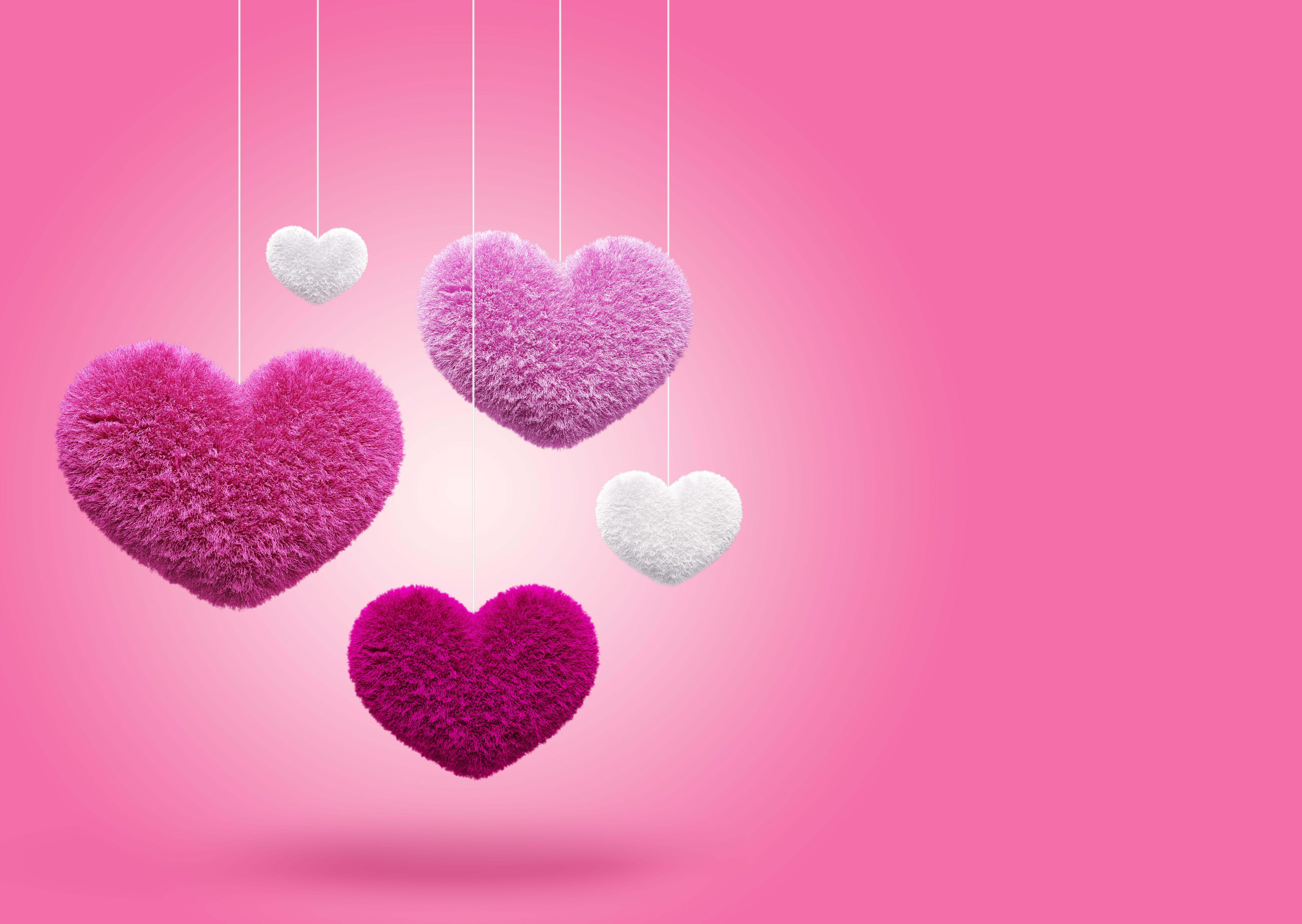 Обои heart, сердечки, Valentines day. Рендеринг foto 12