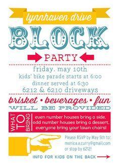 block party flyers templates thevillas co
