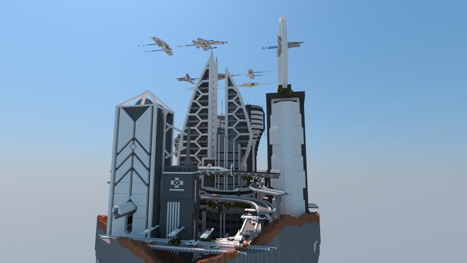 Space City I Made In Minecraft Minecraft Pinterest - Minecraft hauser schematics
