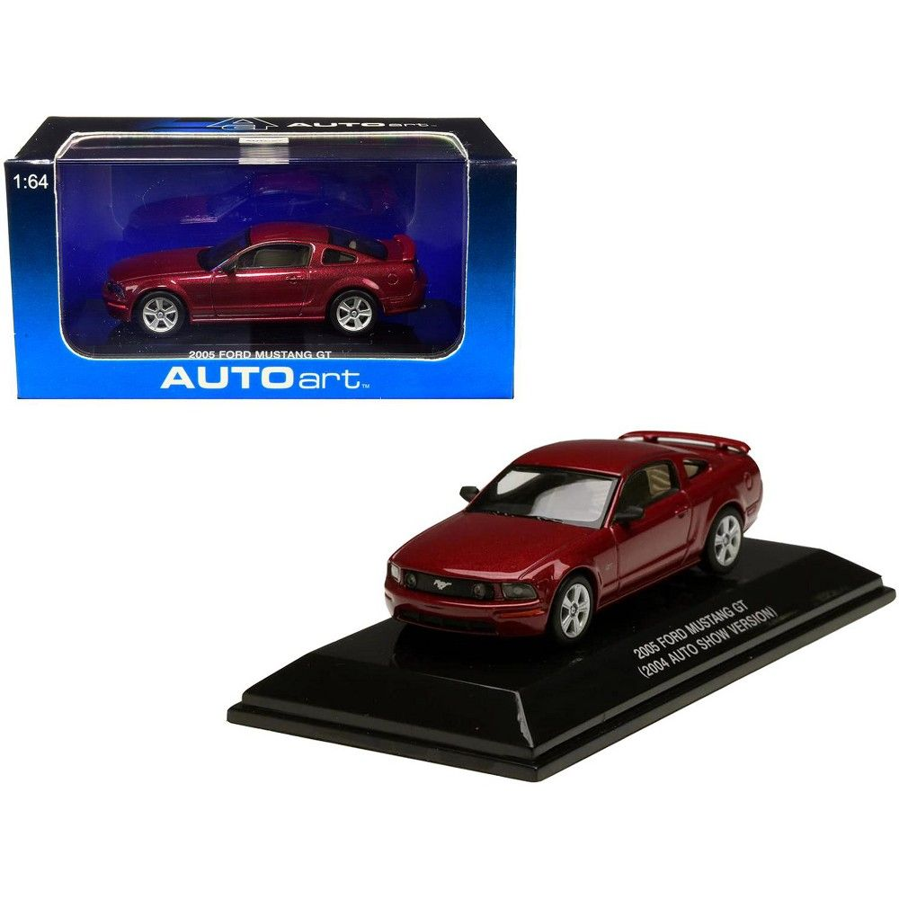 2005 Ford Mustang Gt Red Fire Metallic 2004 Auto Show Version 1 64 Diecast Model Car By Autoart In 2020 Diecast Model Cars 2005 Ford Mustang Ford Mustang