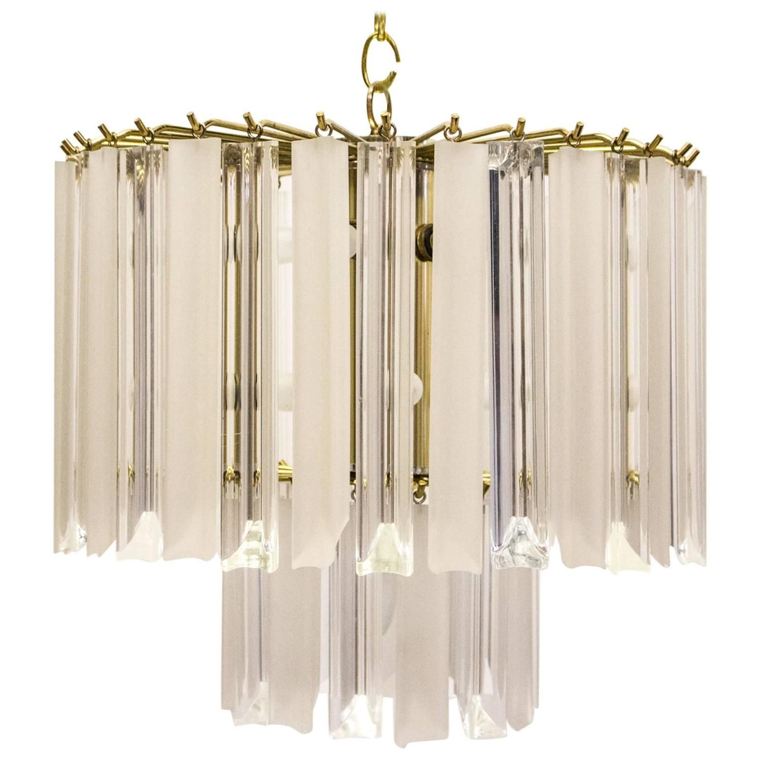 Glistening Lucite Chandelier from the 1980s