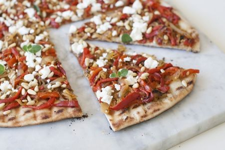 RECIPE: Caramelized Onion and Feta Grilled Pizza