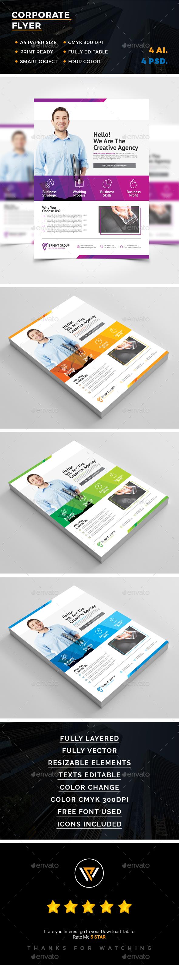 Corporate Flyer Template PSD, AI Illustrator | Flyer Templates ...