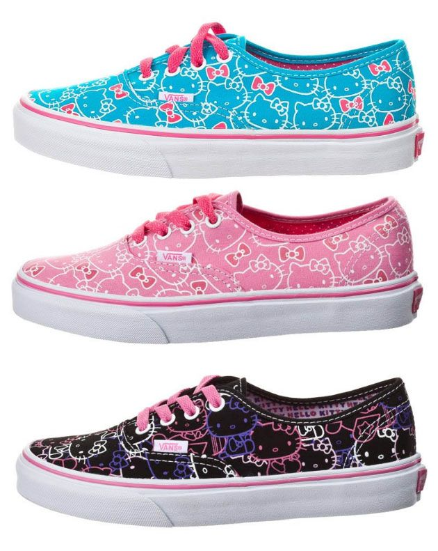 6b4036e20b7 Helly Kitty Vans! Hello Kitty Vans, Hello Kitty Kleding, Kat Shirts, Pastel