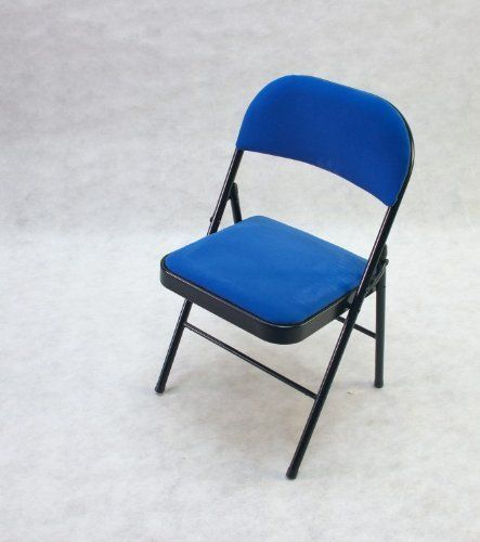 2PCS High Quality Metal Folding Chair With Cushion Shipping From UK (BLUE)  By TGLOE