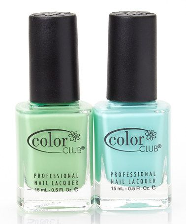 Love this Blue-Ming & Twiggie Nail Polish Set by Color Club on #zulily! #zulilyfinds
