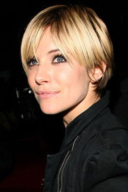 Shaggy Pixie on Sienna Miller. Like the back, would cut the front shorter for me.