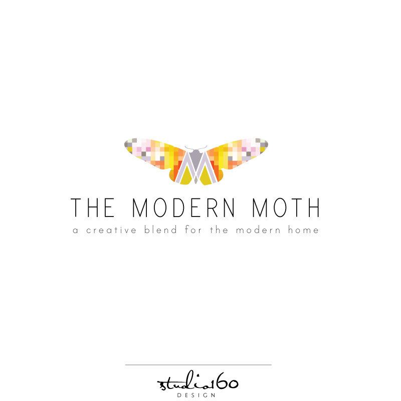 Custom Business Logo Design Moth Logo Craft Logo By Studio160design