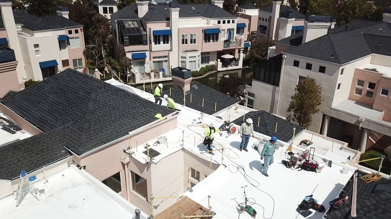 Drone footage of our Bay Area roofing contractors hard at