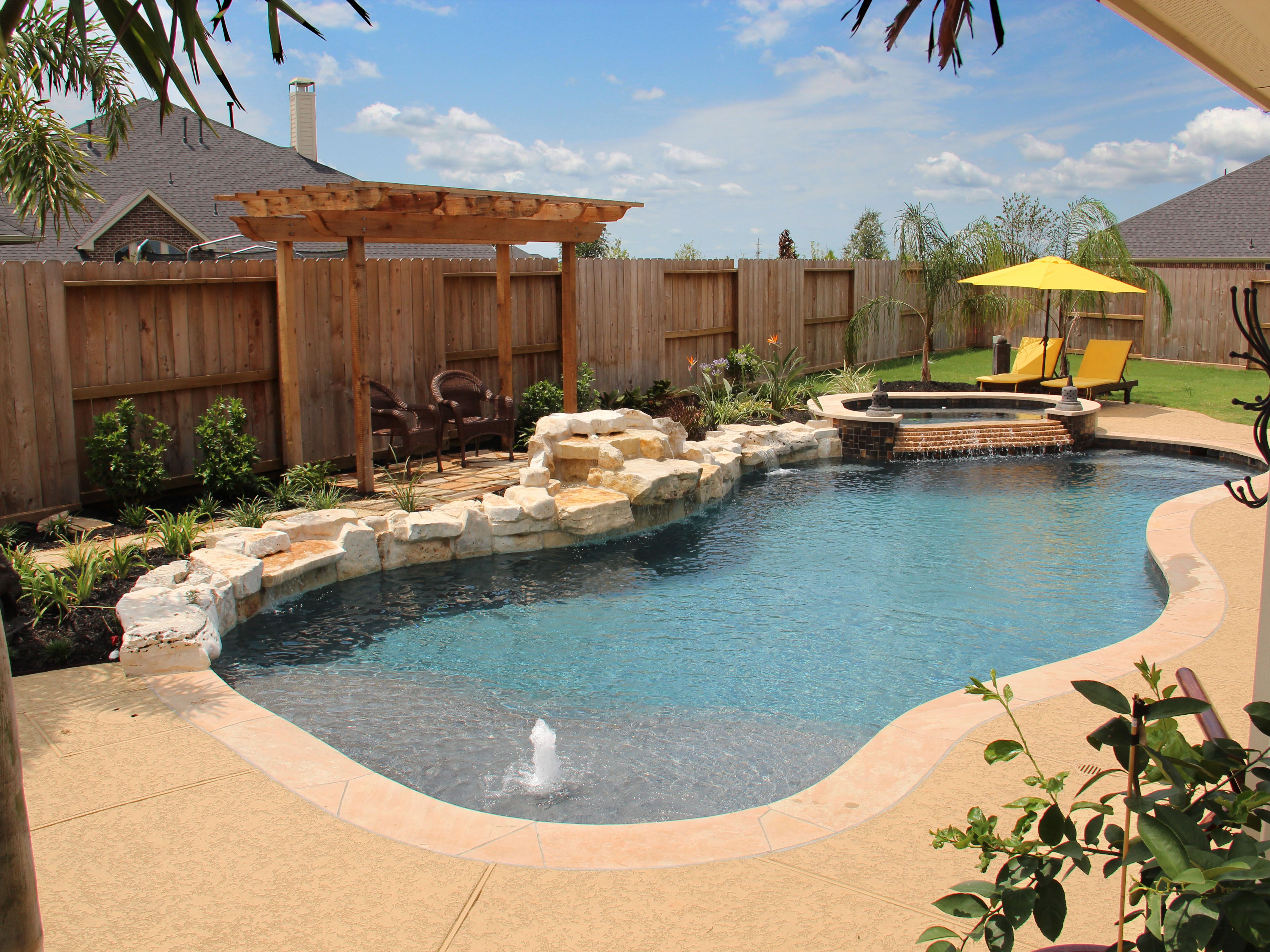 Natural Free Form Swimming Pools Design 225 — Custom