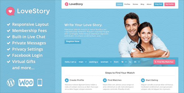 free dating templates for wordpress