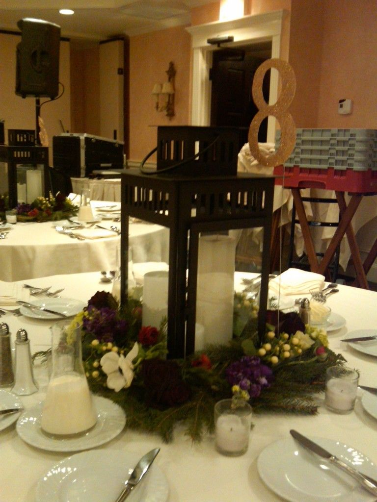 Images Of Candle Lantern Style Table Centerpieces