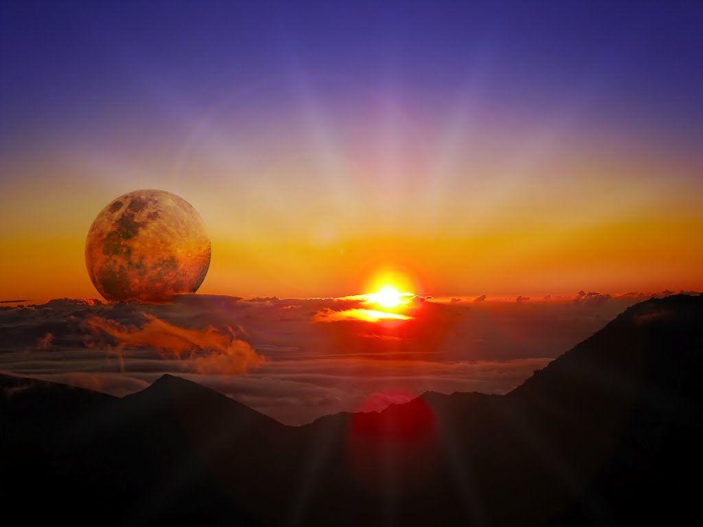 Haleakala maui hawaii sunrise with moon just cool pics pinterest haleakala maui hawaii sunrise with moon publicscrutiny Image collections