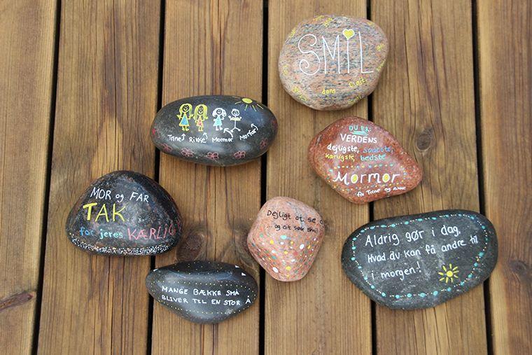 Polerede sten - Smukke sten til stenmaling