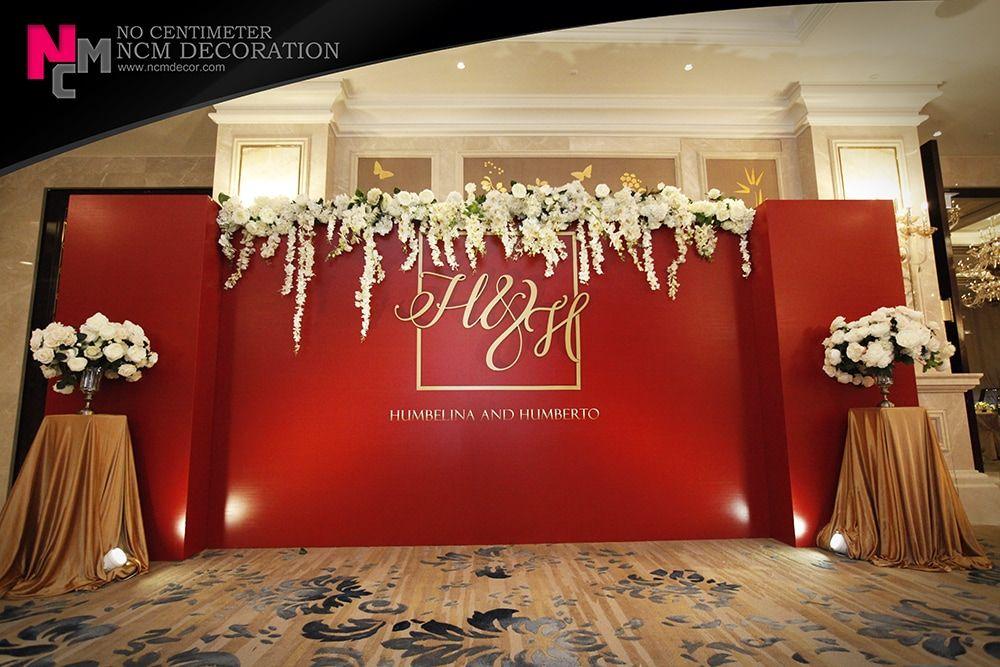 red wedding elegant wedding