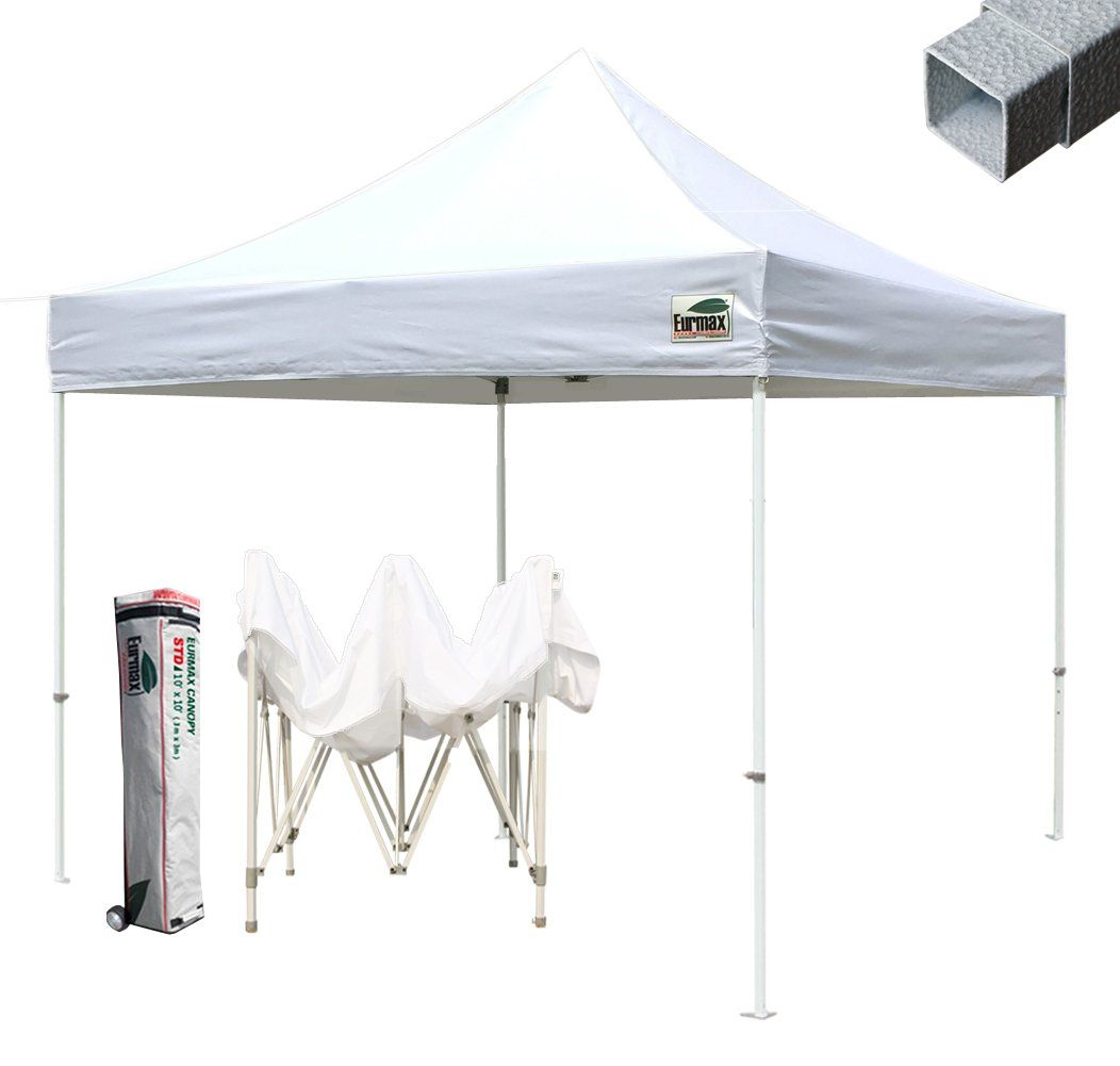 commercial grade std 10x10 white canopy tent pop up gazebo canopy shelter with wheeled bag - 10x10 Canopy Tent