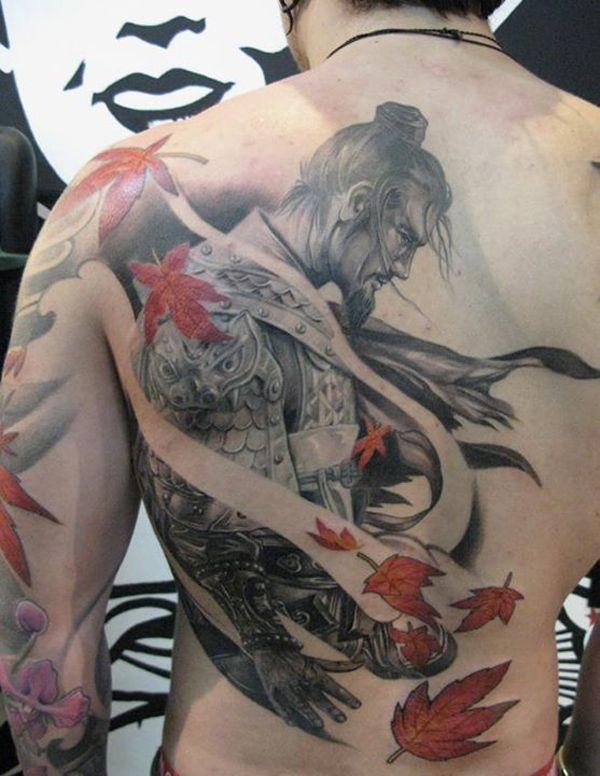 Half Back Samurai Japanese Warrior Tattoo Warrior Tattoo Japanese Tattoo Designs
