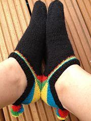 Ravelry: Rainbow Heel Sneaker Socks pattern by Gabriele Boldt - GaBoSocks
