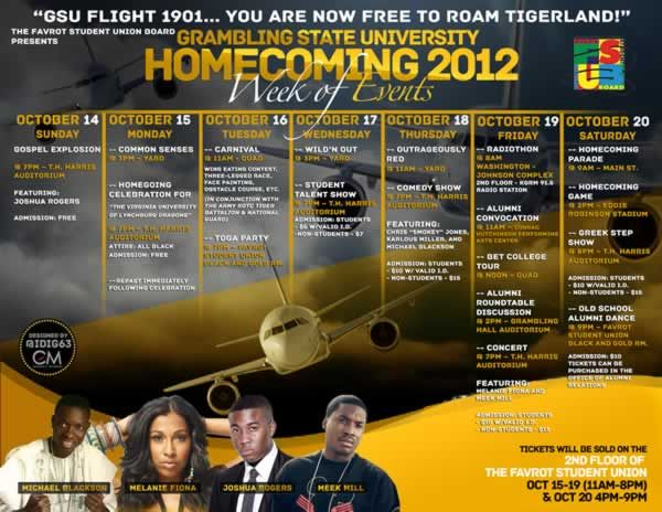 Event Calendar Flyer Week Events Grambling State University