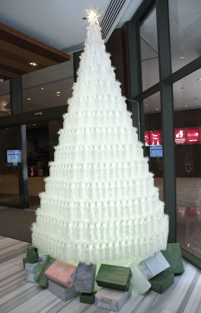 Recycled Plastic Bottles Tree. Perhaps I will try this one for the next  school year! - Recycled Plastic Bottles Tree. Perhaps I Will Try This One For The